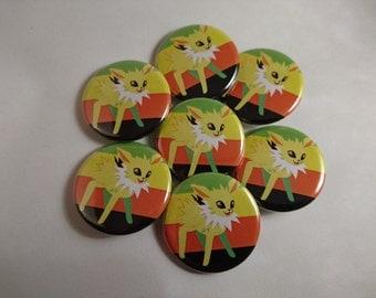 Jolteon Aromantic Pride - Pride Evolutions - Pokemon Eevee-lution LGBTA 32mm badge