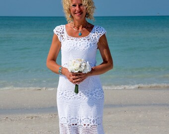 Crochet wedding dress Handmade White Dress wedding dress Crochet white dress  lace dress Summer cotton Dress crochet wedding gown