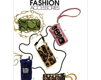 McCall's Pattern M5946 Mini Clutches, Cell Phone, MP3, and Personal Planner Cases 2 Styles One Size NEW