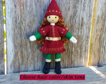 Caring Elves - Kindness Tradition - Christmas Elf - Christmas Elves - Holiday Elves - Handmade Bendy Doll