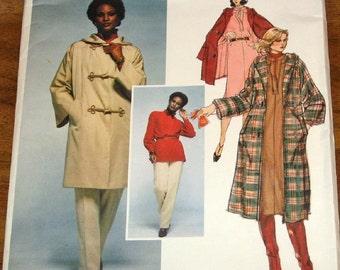 Vogue Paris Original 1572 Emanuel Ungaro Coat, Tunic Top Dress Pants Womens Vintage 1970s Sewing Pattern Size 10 Bust 32 Uncut Factory Folds