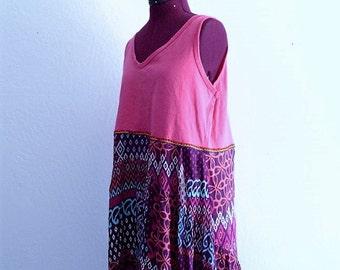 Sale Tribal print High Low Tunic. Beach Dress