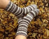 Men's Socks EU size 45-48.5 - 100% Natural Organic Undyed Wool - Cozy Christmas Gift