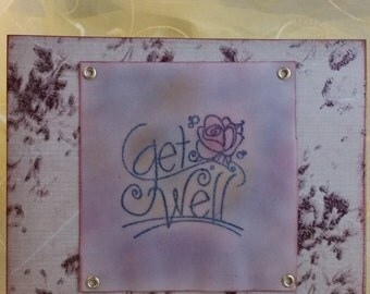 Get Well Card-Ink Embossed and Distressed