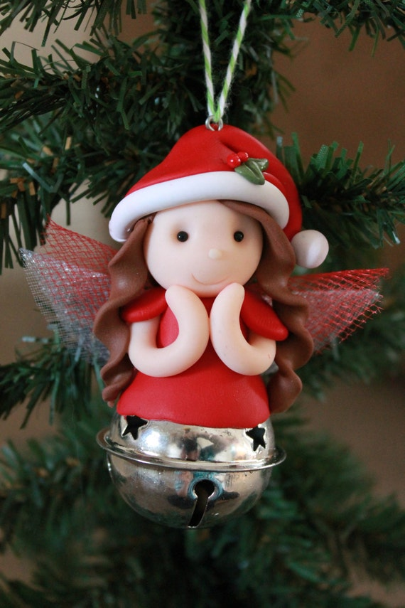 Christmas fairy ornament polymer clay ornament christmas ornament