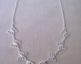 Fluttering Silver Butterflies for a Great Summer Necklace