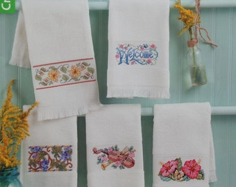Cross Stitch Pattern Book TOWELS TO STITCH By Leisure Arts From Kooler Design Studio