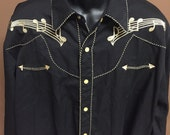 Scully Embroidered Western Shirt - Size XL