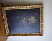 Rembrandt - Man With Golden Helmet - 16th Century Replica, Whiskey Lounge, Formal Library, Man Cave, Parlor Room