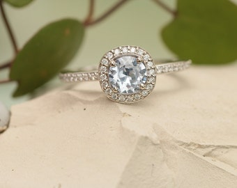 Ice Blue Sapphire Engagement Ring Wedding Ring or Right Hand Ring