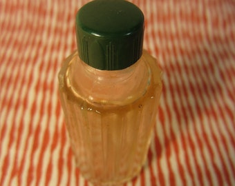 Vintage 1920's Miniture Perfume Bottle with Fluted Column Pressed Glass