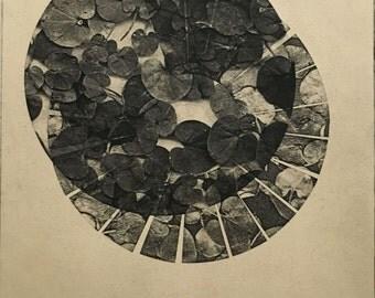 "SALE .  Fine Art Print . Black and white Fine Art Etching . Reel: Print Size 11"" x 13"". Unframed ."