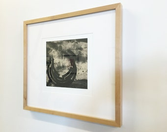 "SUMMER SALE - 40% OFF. use code { EOS40}.Etching Print. Contemporary . Black and White Modern Home:"" Barrel"". Size 12"" x 12"" . Unframed"