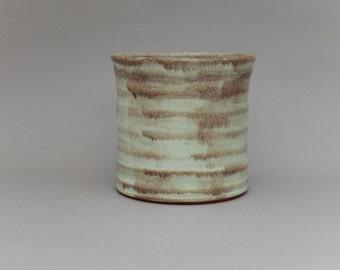Ceramic Kitchen Utensil Holder - Kitchen Caddy - Rustic Pottery Crock