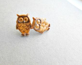 Hooter Owl Stud Earrings