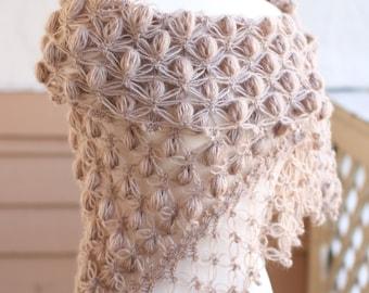 Wedding Shawl, Wedding Cape,Bridal Bolero, Bridal Shrug, Winter Wedding Shawl, Bridal Wrap, Crochet Shawl, White Shawl, Wedding Lace Bolero