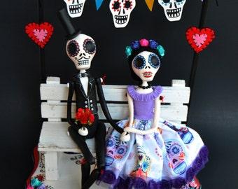 Day of the dead - Dia de los muertos - Couple - Skeleton Couple - Catrina