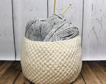 Knitting Pattern ~ Oodles Basket ~ Knitting Pattern