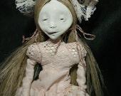 art doll, ooak,  white, weird