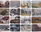 Industrial Landscape. Collection / Set of 16 Vintage Prints, Postcards - 1960s-1980s
