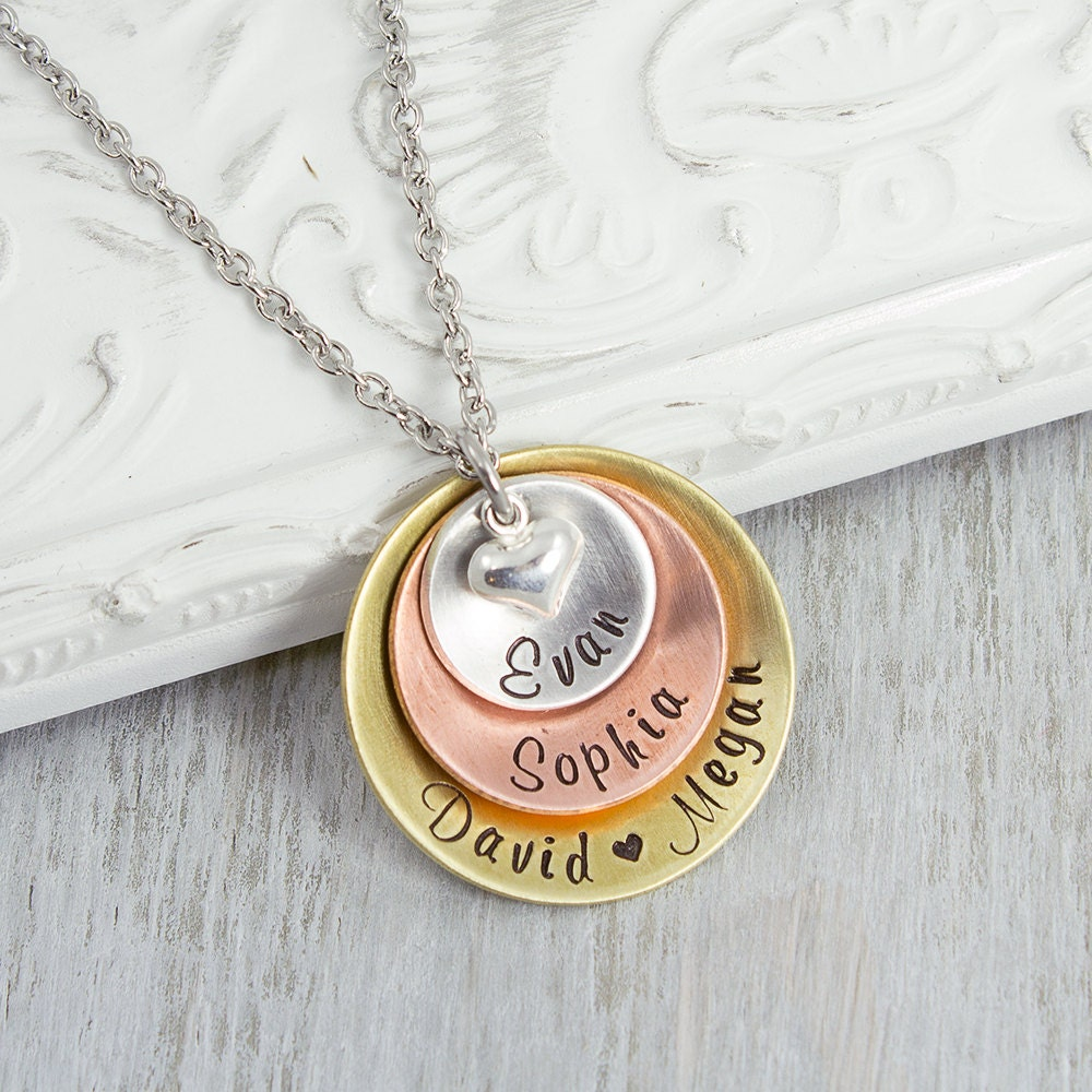 Personalized necklace hand stamped jewelry by heartfelttokens for How do you make hand stamped jewelry