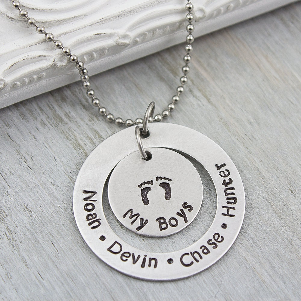 Hand stamped necklace hand stamped washer necklace for How do you make hand stamped jewelry