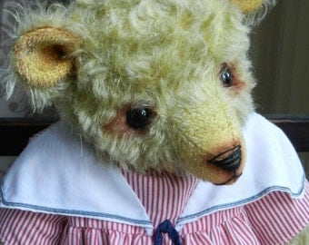 Hand made OOAK mohair artist bear - 'Jeannie' 15""