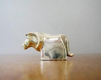 Vintage Dansk Silver Plated Lion Figurine - Gunnar Cyren