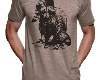Bad Raccoon T Shirt - American Apparel TShirt - S M L Xl Xxl (15 Color Options)