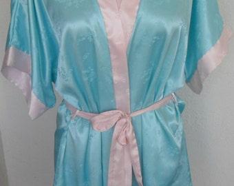 Vintage Robe Shiny Satin House Coat Size Medium