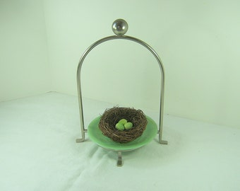 Vintage DISPLAY STAND Chrome Rack Kitchen Cookie Pastry Metal Display