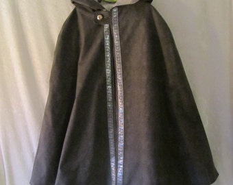 On Sale - Child's Renaissance Fully Lined Cloak With Attached Hood: Gandalf, Hobbit, Lucy Pevensie - All Cotton, Size 4, Ready To Ship Now