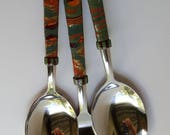 Three-Piece Clay Covered Serving Set-Fall Colors