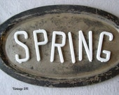 SPRING Letters, Vintage Plastic White Letters, Altered Art Supply, Craft Supply