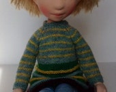 Waldorf inspired, handcrafted cloth doll (partial payment accepted) - Bodile