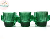 Green Cactus Cactus Shot Glass Southwestern Shot Glasses Libbey Shot Glass Green Cactus Shot Glass