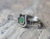 Horseshoe RING / Early Southwest Ring / Sterling Silver Jewelry