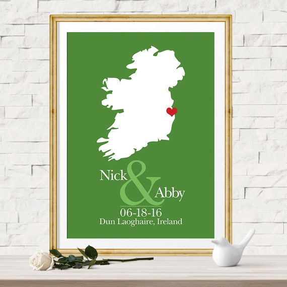 Unique Wedding Gifts Ireland : Idea, Unique Gift Idea for Her, Gift for Bride, Irish Wedding Gift ...