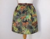 Handmade dinosaur skirt high waisted waist among trees dino print
