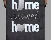Silver Prints, Personalized Couple, Personalized Couples Gifts,Home Sweet Home Banner,Personalized Wedding Gifts For Couple, Silver Wall Art