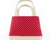 Little Girls Bag Cute Kids Tote Bag Red Polka Dot Bag Toddler Tote Bag Childrens Gift for Girls Handbag