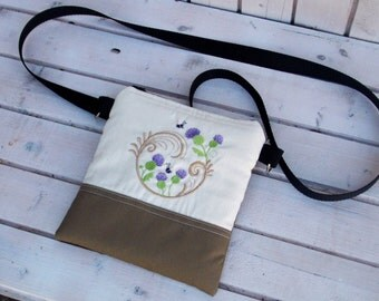 Belt bag/belt pack/hip bag/ fanny pack/ waist bag/ waist purse/woman bag/Thistle Boho bag/ Black lotus bag