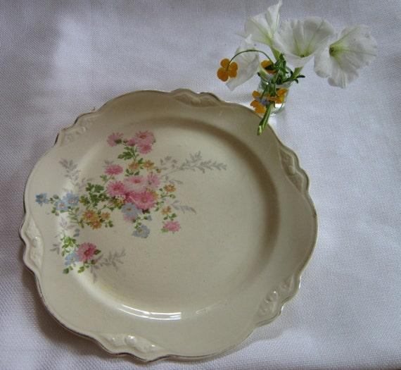 Homer Laughlin Plate Virginia Rose Pattern August 1939 10 inch dinner plate