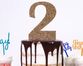 Large Number Age Birthday and Anniversary Cake Topper