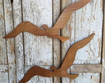 Wooden birds flying bird wall decor vintage wooden birds in flight for wall decor