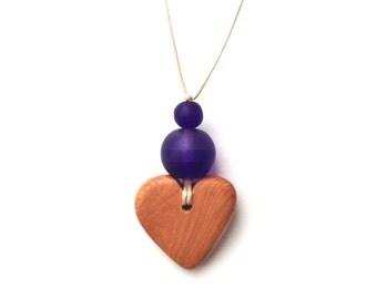 Aphrodite Teething Necklace - Nursing Necklace - Breastfeeding Necklace - Juniper Heart - Dark Purple Gradient, Monochrome, Ombre