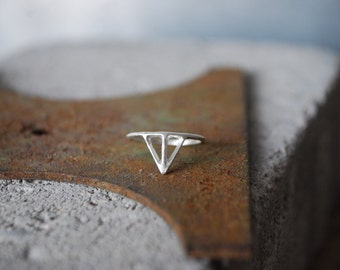 TAIKA Ring - Sterling Silver, minimalist skinny thin ring in recycled silver