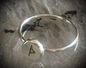 Rune Ring - Any Rune - Women Viking - Norse Ring - Viking Ring - Elder Futhark - Runes - Silver - Vikings - Pagan Ring - Occult Ring Wiccan