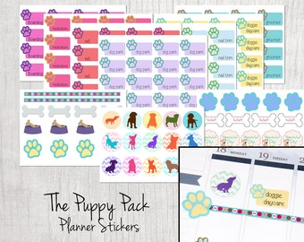 SALE - 25% OFF! Planner Calendar Stickers- Puppy Pack- Perfect for all Planners!