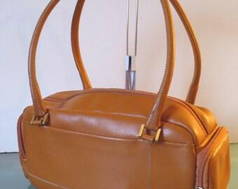 Vintage Lamarthe Caramel Leather  Bag